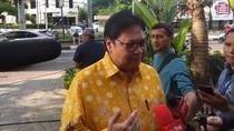 Ngaku Belum Bahas Kursi Menteri ke Jokowi, Airlangga: Masih Hari Pertama