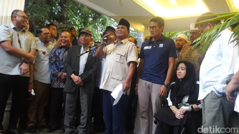 Prabowo soal Utusan Jokowi: Belum, tapi Hubungan Saya Baik dengan Beliau