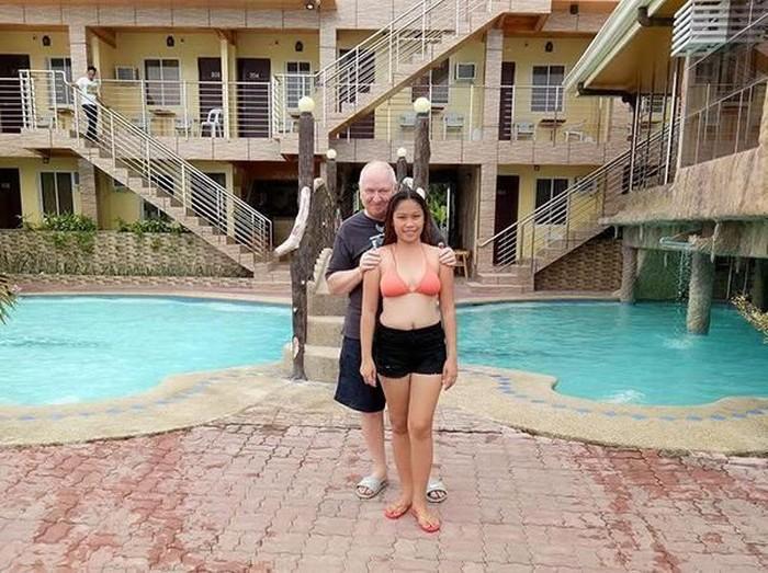 Lorie fe Dales dibully karena pacaran dengan pria 48 tahun lebih tua. Foto: Dok. Facebook