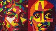 8 Lukisan Tumpukan Permen Sosok Korban Penembakan hingga Bob Marley