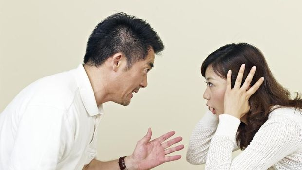 young asian couple having a big argument. click for more: