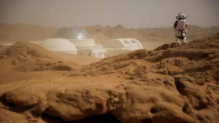 Gurun Gobi di China sebagai lokasi simulasi peradaban manusia di Mars. Foto: Reuters