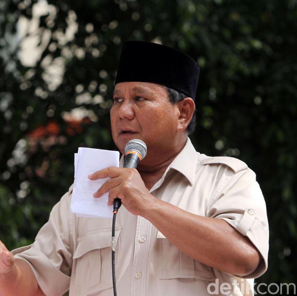 Prabowo: Awasi Rekapitulasi, Pastikan Tidak Ada Angka Diubah