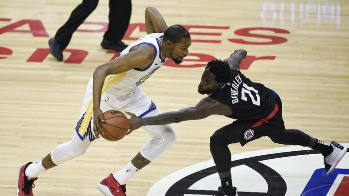 Golden State Warriors rebut gim ketiga atas LA Clippers (Kelvin Kuo-USA TODAY Sports)