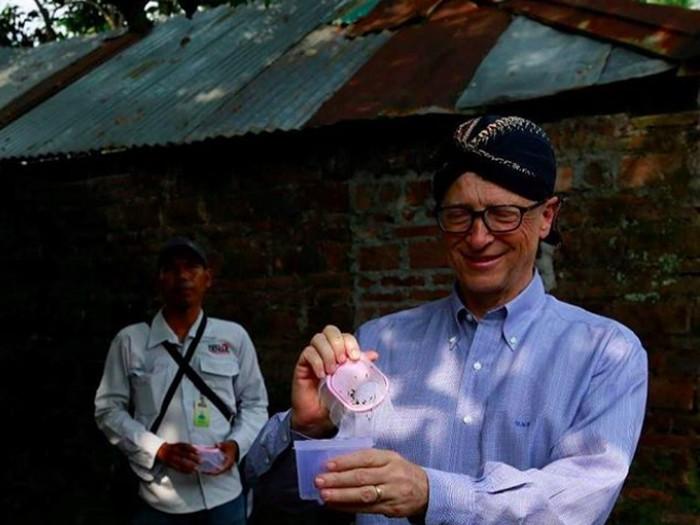 Bill Gates saat di Yogyakarta. Foto: Instagram