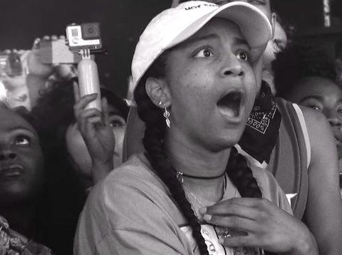 Ekspreksi terkejut fans Beyonce ini jadi viral.