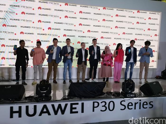 Huawei P30 Series resmi dipasarkan di Indonesia. Foto: Agus Tri Haryanto/inet