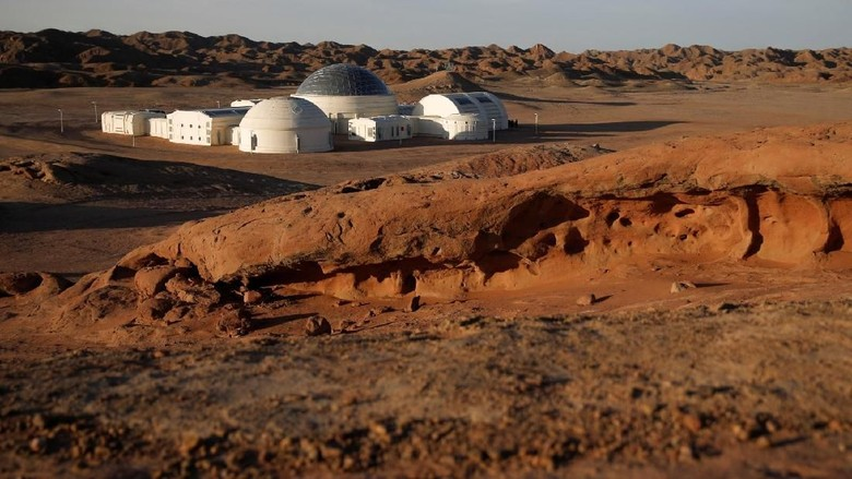 C-Space Project Mars buatan China di Gurun Gobi (Thomas Peter/Reuters)