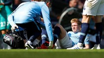De Bruyne Cedera Lagi, Absen di Derby Manchester?