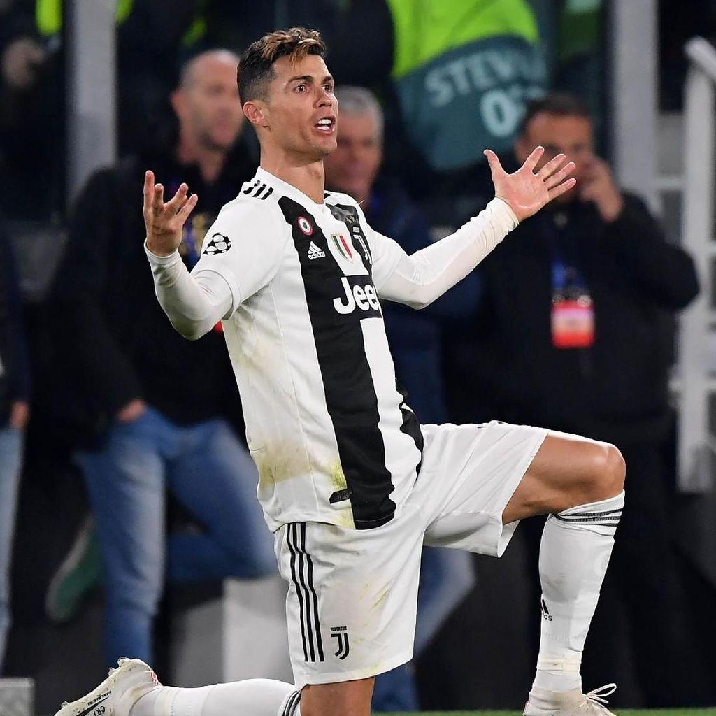 Viral Video Kekesalan Ronaldo Usai Juventus Disingkirkan Ajax