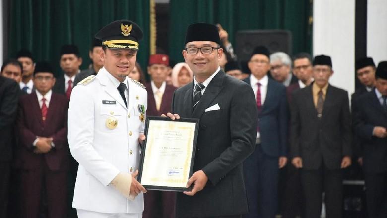 Lantik Kepala Daerah, Ridwan Kamil: Saya Titip Kondusifitas
