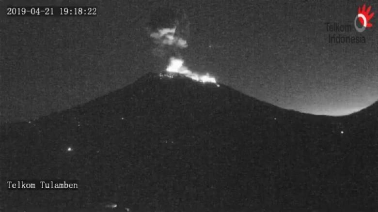 Kondisi Gunung Agung Erupsi (Foto: Dok. PVMBG)
