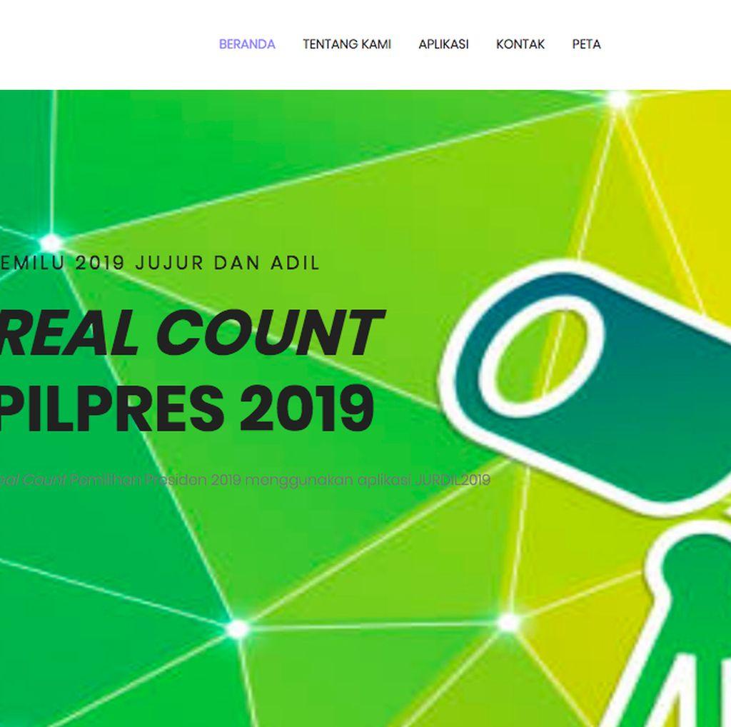 Izin Dicabut, Situs Jurdil2019 Tampilkan Real Count Prabowo Menang