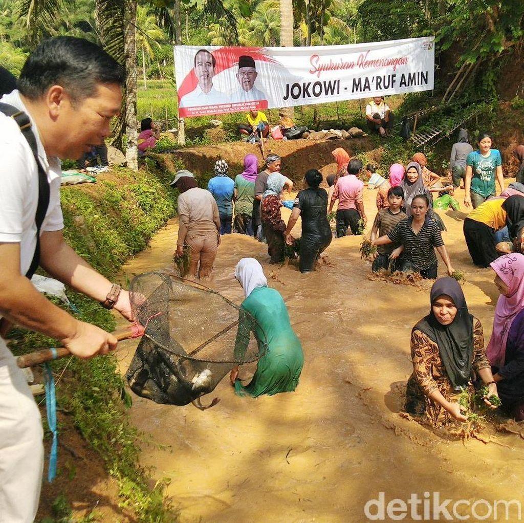 Jokowi Menang Versi Quick Count, Warga Cimaragas Ciamis Ngubyag Ikan