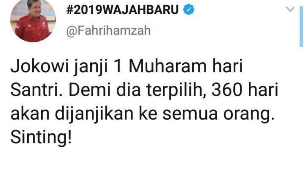 Erin Taulany Dikecam, Netizen Bandingkan Cuitan Sinting Fahri ke Jokowi