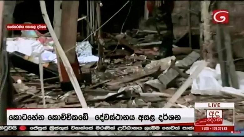 Potret Gereja di Sri Lanka Porak Poranda karena Teror Bom Saat Paskah