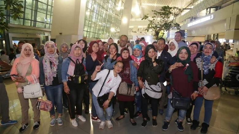 51 Pekerja Migran Program Amnesti Yordania Pulang ke Tanah Air