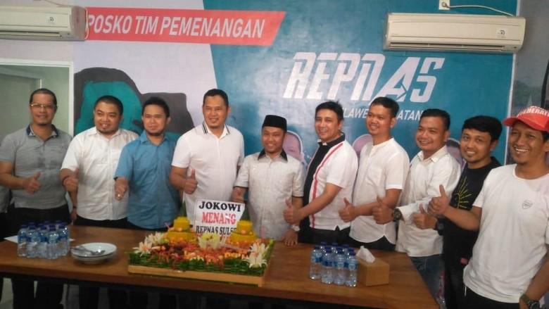 Syukuran Jokowi Menang QC, Relawan di Sulsel Doa Bersama Anak Yatim