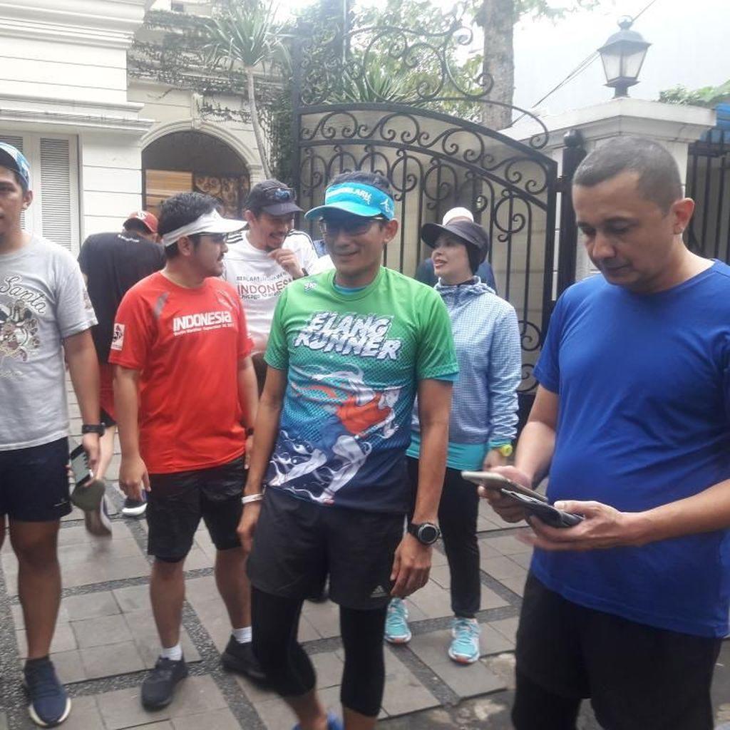 Kondisi Mulai Membaik, Sandiaga Lari Sore ke GBK