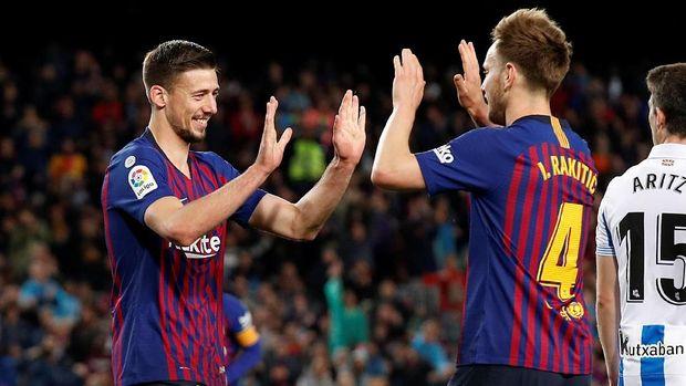 Barcelona hanya butuh dua kemenangan lagi untuk juara La Liga Spanyol musim ini. (