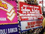 Rumah Aspirasi Jokowi-Amin Dibanjiri Karangan Bunga