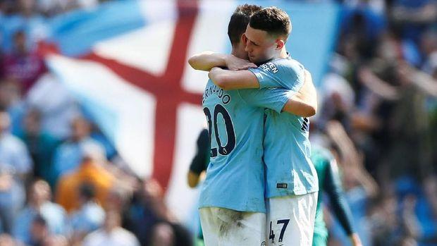 Manchester City kalahkan Tottenham Hotspur 1-0. (