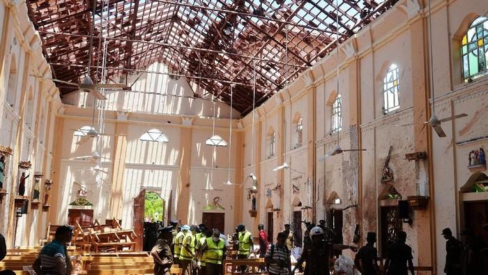 Kondisi gereja di Sri Lanka yang Diteror Bom (Foto: Reuters)