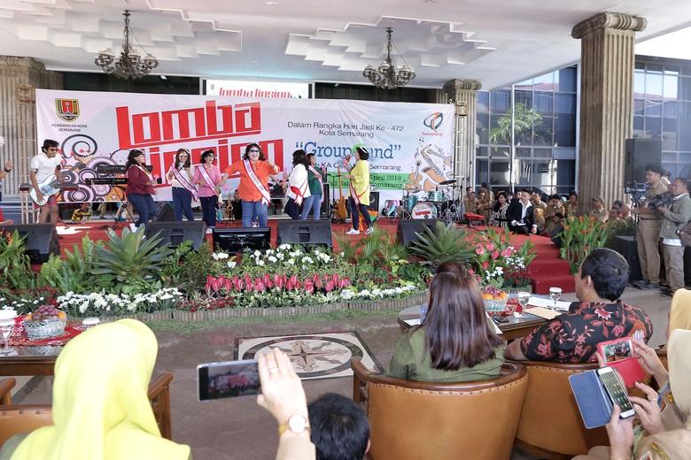 Turunkan Tensi Pascapemilu, Pejabat Pemkot Semarang Lomba Lipsing