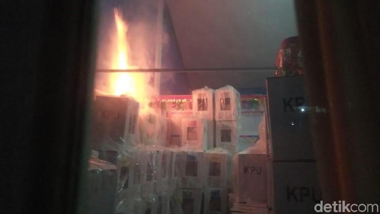 Gudang Kotak Suara di Sumbar Terbakar, KPU Serahkan ke Polisi