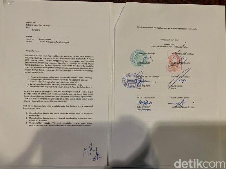 Enam Parpol Di Surabaya Duga Ada Penggelembungan Suara Oleh Pdip