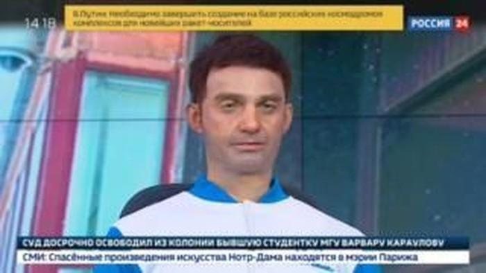 Robot presenter di TV Rusia. (Foto: Dok. Rossiya 24 via BBC)