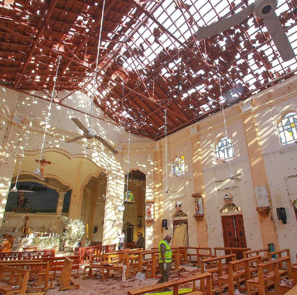 CCTV Penampakan Pelaku Bom Bunuh Diri di Gereja Sri Lanka Saat Paskah