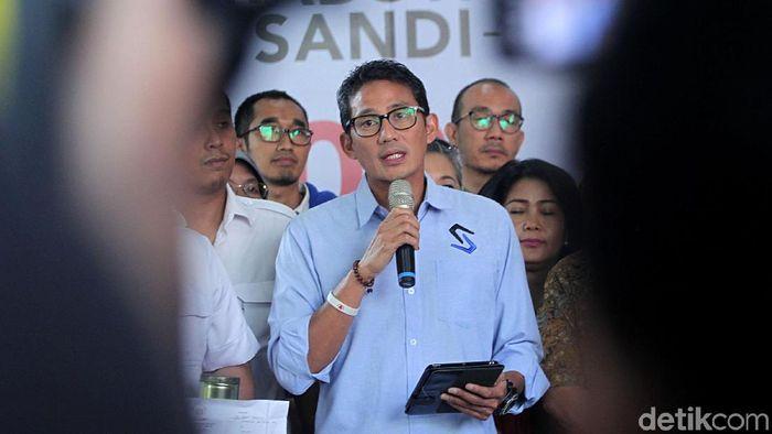 Cawapres 02 Sandiaga Uno/Foto: Lamhot Aritonang