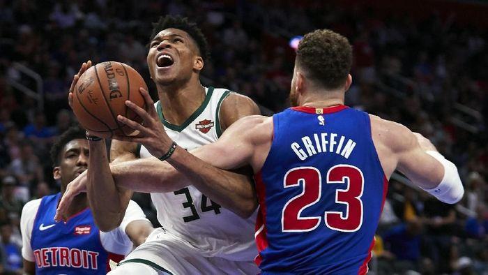 Milwaukee Bucks hantam Detroit Pistons dan melaju ke Semifinal Playoff Wilayah Timur NBA (Rick Osentoski-USA TODAY Sports)