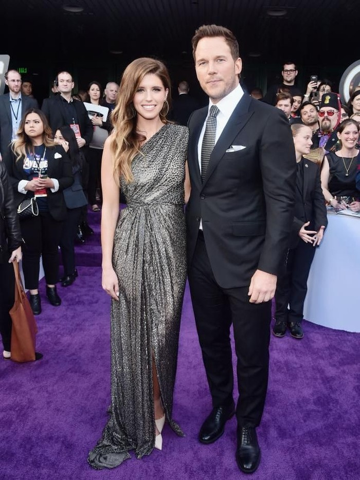 HOLLYWOOD, CA - APRIL 22:  Katherine Schwarzenegger and Chris Pratt attend Audi Arrives At The World Premiere Of Avengers: Endgame on April 22, 2019 in Hollywood, California.  (Photo by Joe Scarnici/Getty Images for Audi)