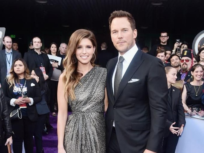 HOLLYWOOD, CA - APRIL 22:  Katherine Schwarzenegger and Chris Pratt attend Audi Arrives At The World Premiere Of
