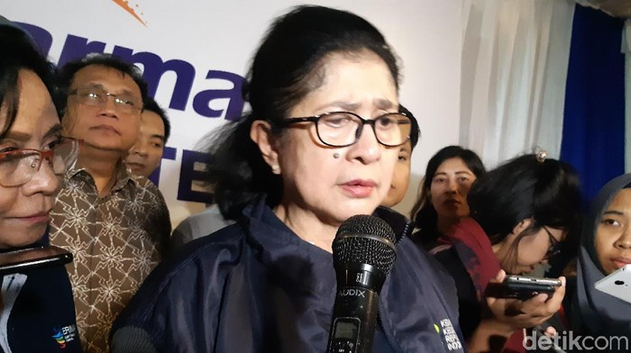 Menkes Nila Moeloek menggerakkan dinas kesehatan terkait banyaknya petugas KPPS yang meninggal di Pemilu 2019. (Foto: Aisyah Kamaliah/detikHealth)