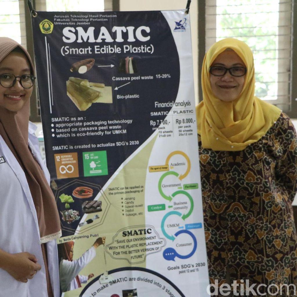 Kreatif, Singkong Disulap Mahasiswa Universitas Jember Ini Jadi Bioplastik