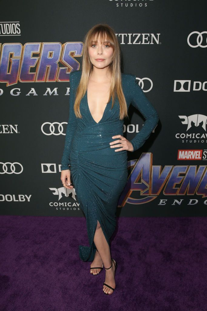 LOS ANGELES, CA - APRIL 22:  Elizabeth Olsen attends the Los Angeles World Premiere of Marvel Studios'