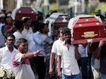 Iring-iringan Peti Jenazah di Pemakaman Korban Bom Paskah Sri Lanka
