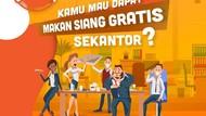 Ini Dia Pemenang yang Akan Dibayarin Makan Siang Gratis Bareng Teman Sekantor