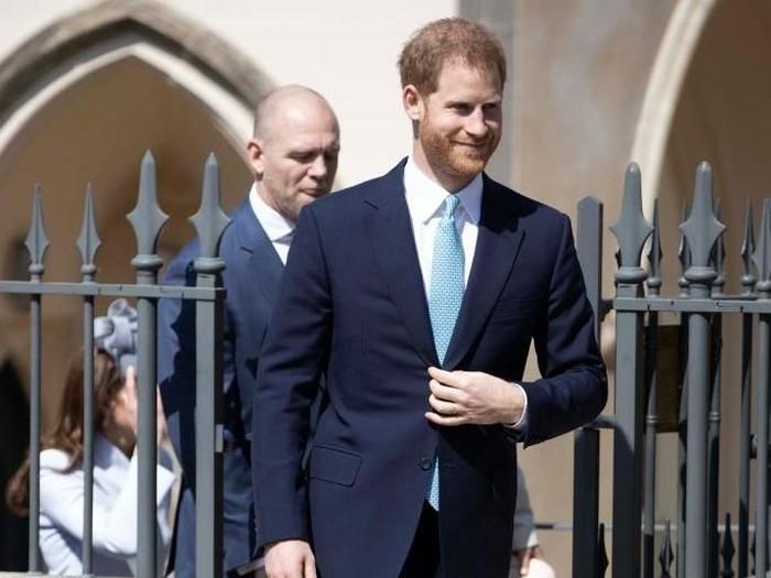 Pangeran Harry saat acara Paskah di Gereja St George, Windosr, Inggris. Foto: Getty Images