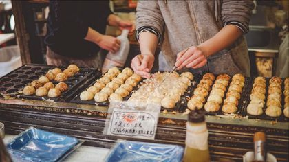 Takoyaki near Ueno Station