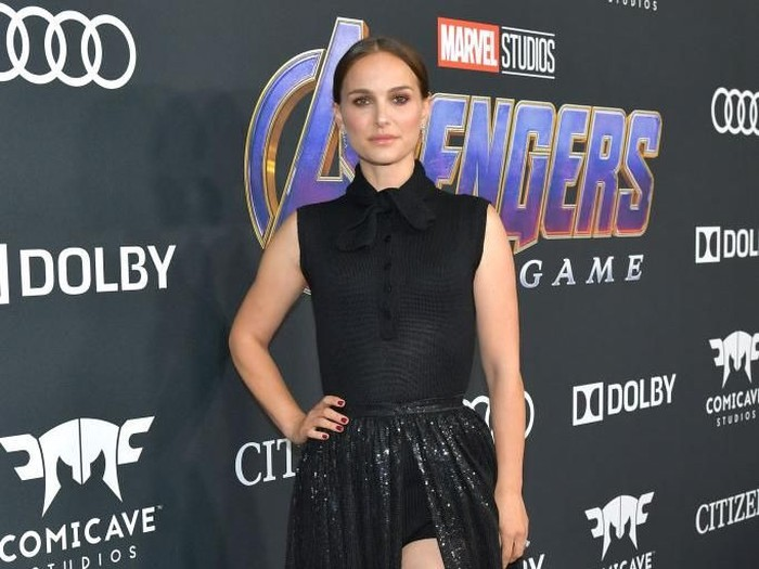 LOS ANGELES, CA - APRIL 22:  Natalie Portman attends the world premiere of Walt Disney Studios Motion Pictures Avengers: Endgame at the Los Angeles Convention Center on April 22, 2019 in Los Angeles, California.  (Photo by Amy Sussman/Getty Images)