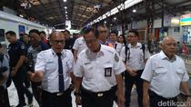 Mudik 2019, Dirut KAI Cek Jalur Kereta Api di Purwokerto