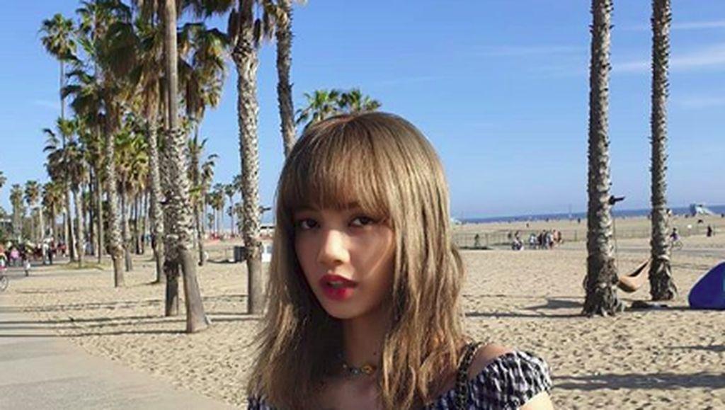 Foto: Adu Cantik Pantai Santa Monica dengan Personal Blackpink