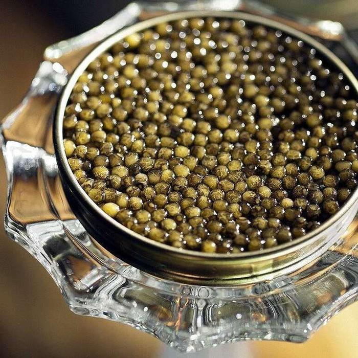 Kaviar almas ini dibanderol seharga Rp 355 juta. Telur ikan asal Iran ini berasal dari jenis ikan roe yang langka. Selain kualitas kaviar, yang membuat harganya mahal karena dikemas dalam wadah berlapis emas 24 karat. Foto: istimewa
