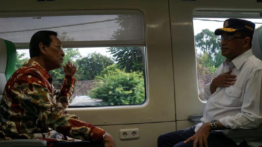 Menhub Jajal Kereta Bandara Baru Kulon Progo Bareng Sultan Yogya