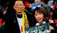 Fans Son dari Korea Selatan yang datang ke Inggris untuk menonton Tottenham Hotspur (CNN Travel/AFP)