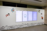 Tidak hanya melihat karakter Doraemon, Nobita dan kawan-kawan, pengunjung juga bisa berinteraksi dengan instalasi digital interaktif yang dipasang di Stasiun Noborito, lho! (Shinjuku, Hakone, Enoshima-Kamakura Sightseeing: Odakyu/Facebook)